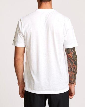 3 Brand Over Balance T-Shirt White V404VRBR RVCA