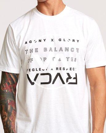 4 Brand Over Balance T-Shirt White V404VRBR RVCA