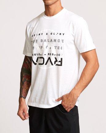 2 Brand Over Balance T-Shirt White V404VRBR RVCA