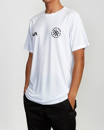 3 Carpe Diem Tokyo T-Shirt White V404VRCD RVCA