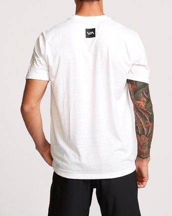 4 RVCA Club T-Shirt White V404VRCL RVCA