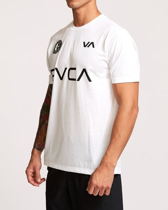 3 RVCA Club T-Shirt White V404VRCL RVCA