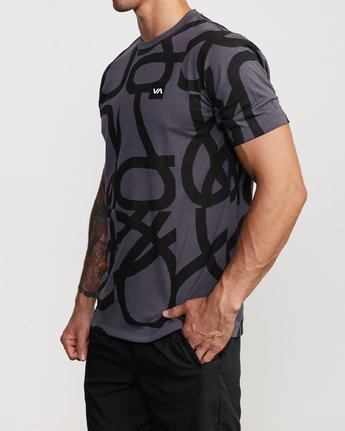 2 Francesco Fid All Over T-Shirt Grey V404VRFD RVCA