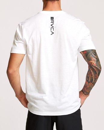 4 Francesco Fid Turmoil T-Shirt White V404VRFI RVCA