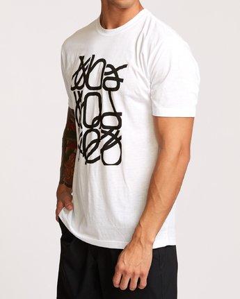 3 Francesco Fid Turmoil T-Shirt White V404VRFI RVCA