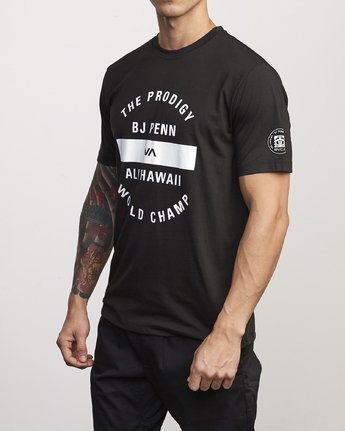 1 BJ Penn Arc Drirelease T-Shirt Black V404WRBA RVCA