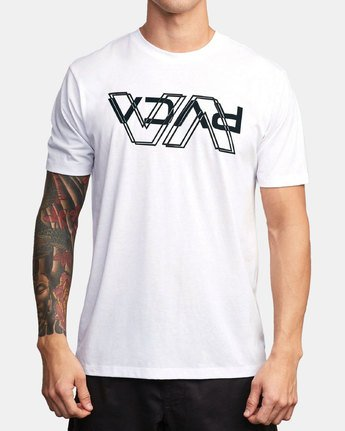 0 VA Out Drirelease T-Shirt White V404WRVO RVCA