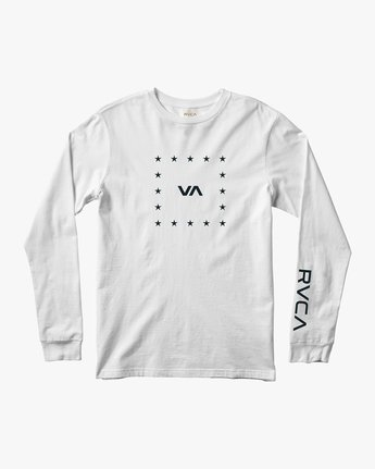 0 VA Corners Long Sleeve T-Shirt White V451TRVC RVCA