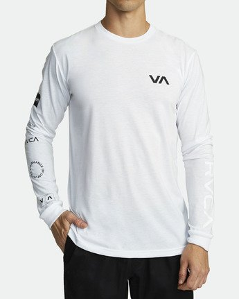 1 ALL OUT RVCA LONG SLEEVE TOP White V4531RAO RVCA