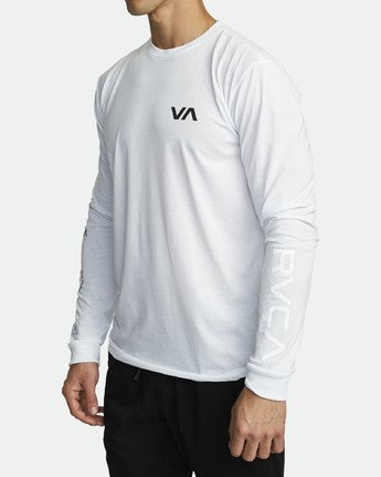 2 ALL OUT RVCA LONG SLEEVE TOP White V4531RAO RVCA