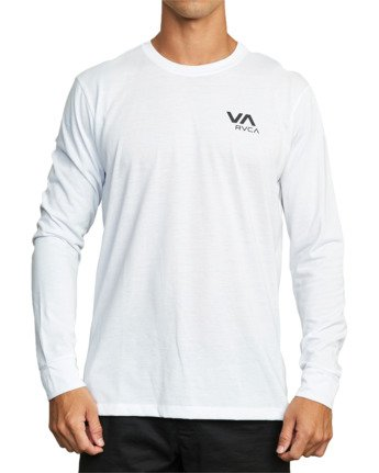 3 VA RVCA LONG SLEEVE TEE White V4533RVR RVCA