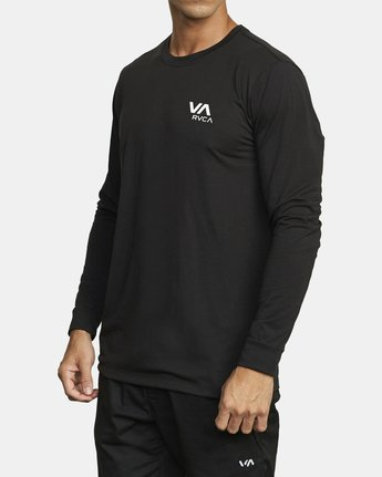 1 VA RVCA LONG SLEEVE TEE Black V4533RVR RVCA