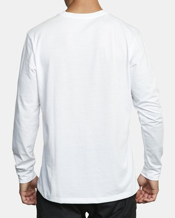 1 VA RVCA LONG SLEEVE TEE White V4533RVR RVCA