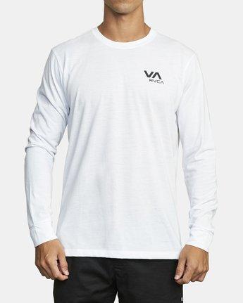 0 VA RVCA LONG SLEEVE TEE White V4533RVR RVCA