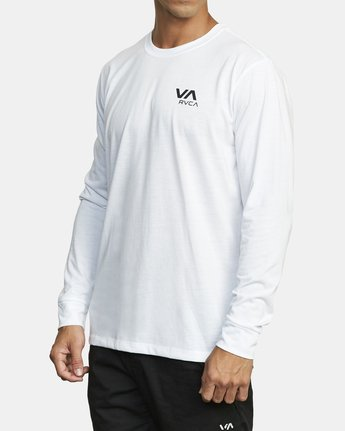 2 VA RVCA LONG SLEEVE TEE White V4533RVR RVCA