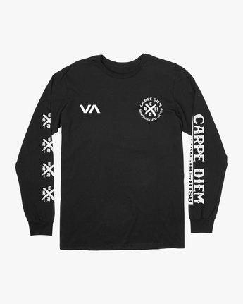 1 Carpe Diem Tokyo Long Sleeve T-Shirt Black V453VRCD RVCA