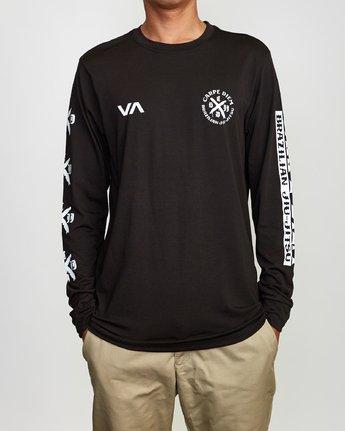 2 Carpe Diem Tokyo Long Sleeve T-Shirt Black V453VRCD RVCA