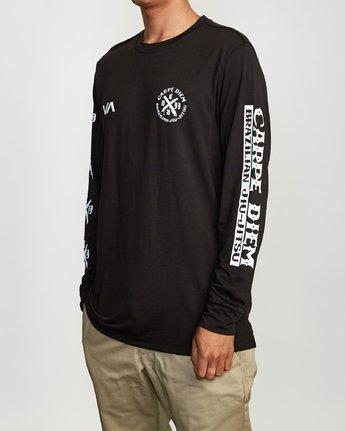 3 Carpe Diem Tokyo Long Sleeve T-Shirt Black V453VRCD RVCA