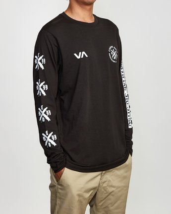 4 Carpe Diem Tokyo Long Sleeve T-Shirt Black V453VRCD RVCA