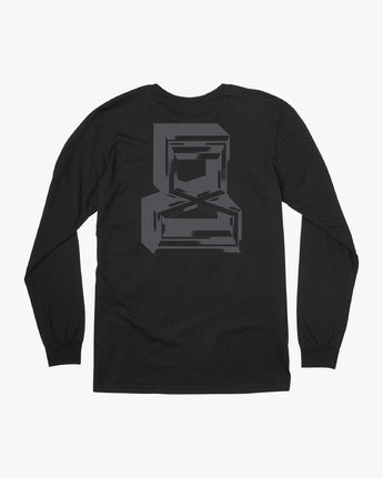 0 Francesco Infinity Long Sleeve T-Shirt Black V453VRFI RVCA