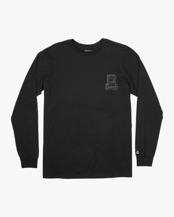 1 Francesco Infinity Long Sleeve T-Shirt Black V453VRFI RVCA