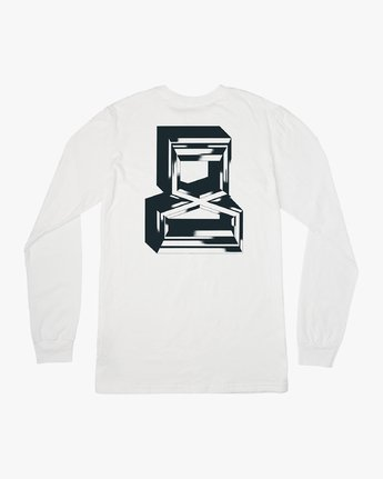 0 Francesco Infinity Long Sleeve T-Shirt White V453VRFI RVCA