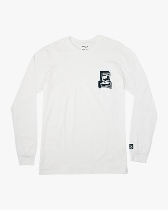 1 Francesco Infinity Long Sleeve T-Shirt White V453VRFI RVCA