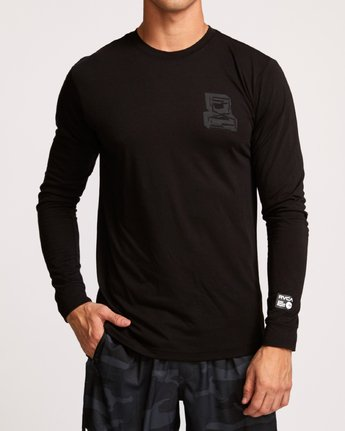 2 Francesco Infinity Long Sleeve T-Shirt Black V453VRFI RVCA