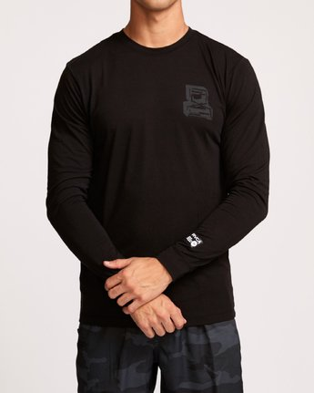 3 Francesco Infinity Long Sleeve T-Shirt Black V453VRFI RVCA