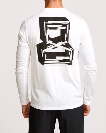 4 Francesco Infinity Long Sleeve T-Shirt White V453VRFI RVCA