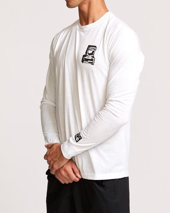 3 Francesco Infinity Long Sleeve T-Shirt White V453VRFI RVCA