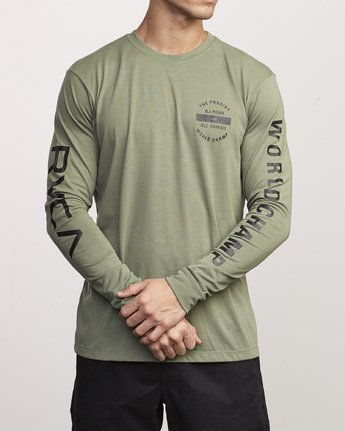 0 BJ Penn Arc Drirelease Long Sleeve T-Shirt  V453WRBA RVCA