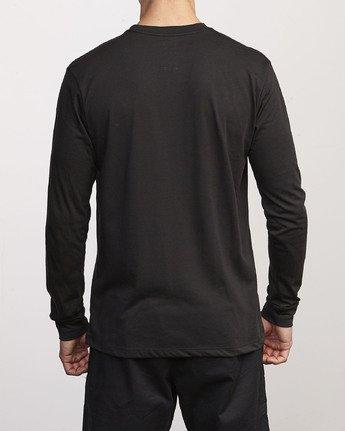 2 VA Out Drirelease Long Sleeve T-Shirt Black V453WRVO RVCA