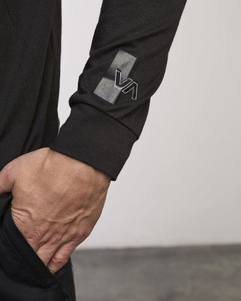 3 VA Out Drirelease Long Sleeve T-Shirt Black V453WRVO RVCA