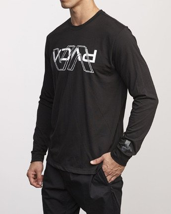 1 VA Out Drirelease Long Sleeve T-Shirt Black V453WRVO RVCA