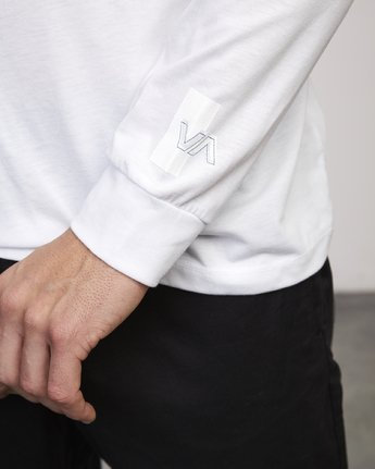 3 VA Out Drirelease Long Sleeve T-Shirt White V453WRVO RVCA