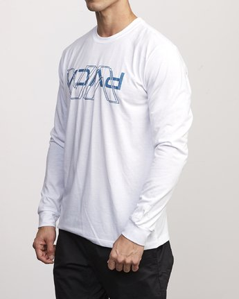 1 VA Out Drirelease Long Sleeve T-Shirt White V453WRVO RVCA