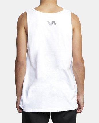 3 VA TRACK TANK White V4811RTE RVCA