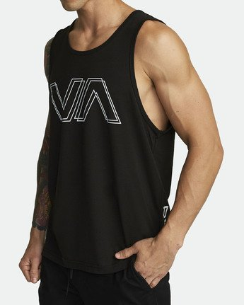 2 VA OFFSET TANK TOP Black V4821ROF RVCA