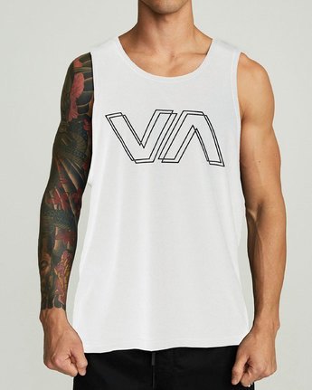 1 VA OFFSET TANK TOP White V4821ROF RVCA
