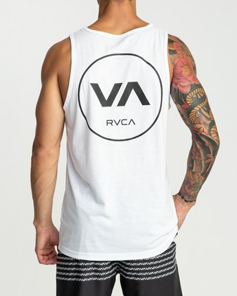 4 RVCA Revert Performance Tank Top White V482URRE RVCA