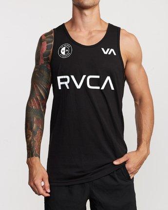 2 RVCA Club Tank Top Black V482VRRC RVCA