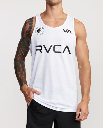 2 RVCA Club Tank Top White V482VRRC RVCA
