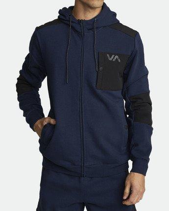 1 HYBRID FULL ZIP HOODIE Blue V6021RHZ RVCA