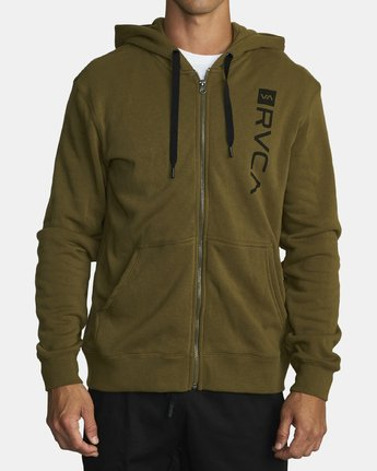 0 CAGE HOODIE Green V602TRCH RVCA