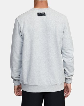 3 EVERLAST PULLOVER SWEATSHIRT Grey V6043REP RVCA