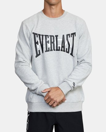 2 EVERLAST PULLOVER SWEATSHIRT Grey V6043REP RVCA
