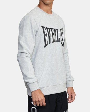 4 EVERLAST PULLOVER SWEATSHIRT Grey V6043REP RVCA