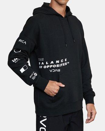 3 Sport Fleece hoodie Multicolor V6043RSH RVCA