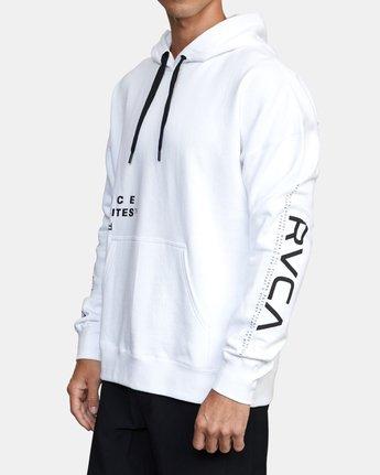 2 Sport Fleece hoodie White V6043RSH RVCA